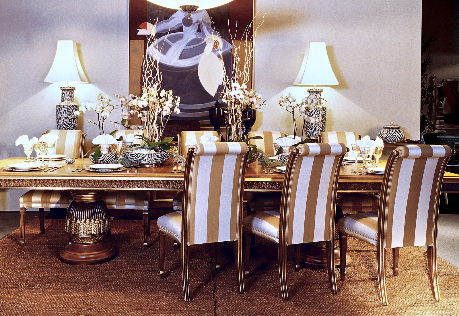 luxury dining room set, bespoke dining table