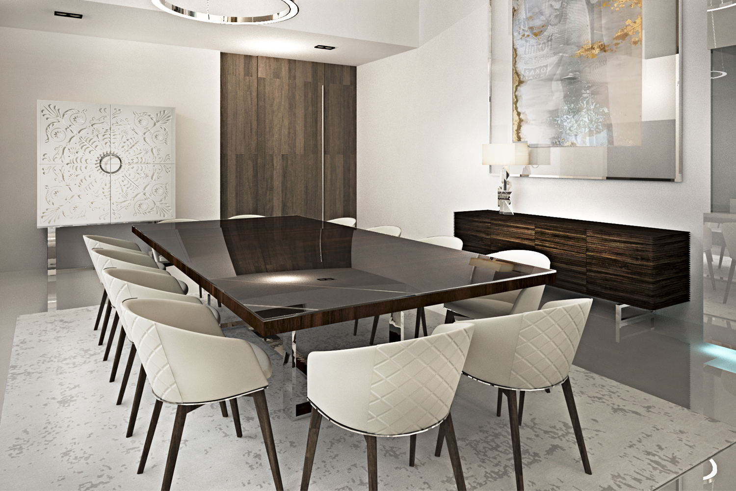 Contemporary Dining Room Sets Luxury Modern Table