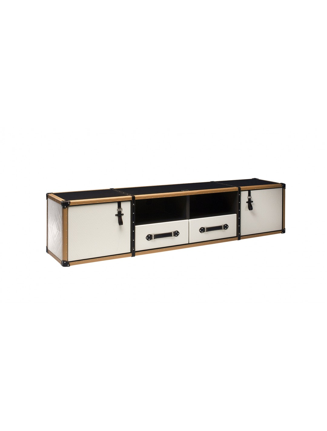 TRAVELER LOW TV SIDEBOARD, FINISH: LEATHER