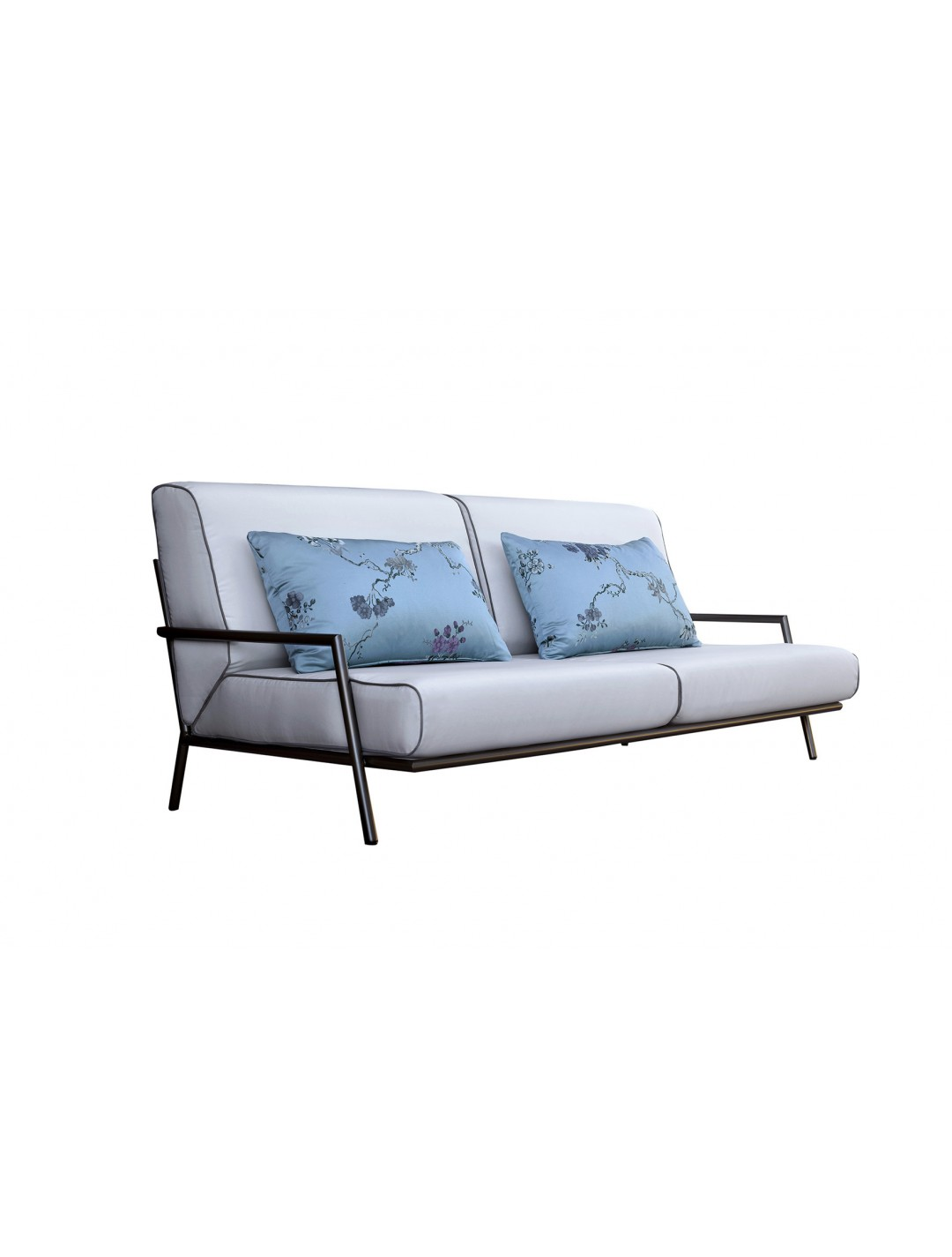 LUCIO 2-SEATER IRON SOFA, FINISH: BRONCE IN&OUT IRON FINISH, WITH TWO 80*50 CM CUSHIONS, C.O.M.