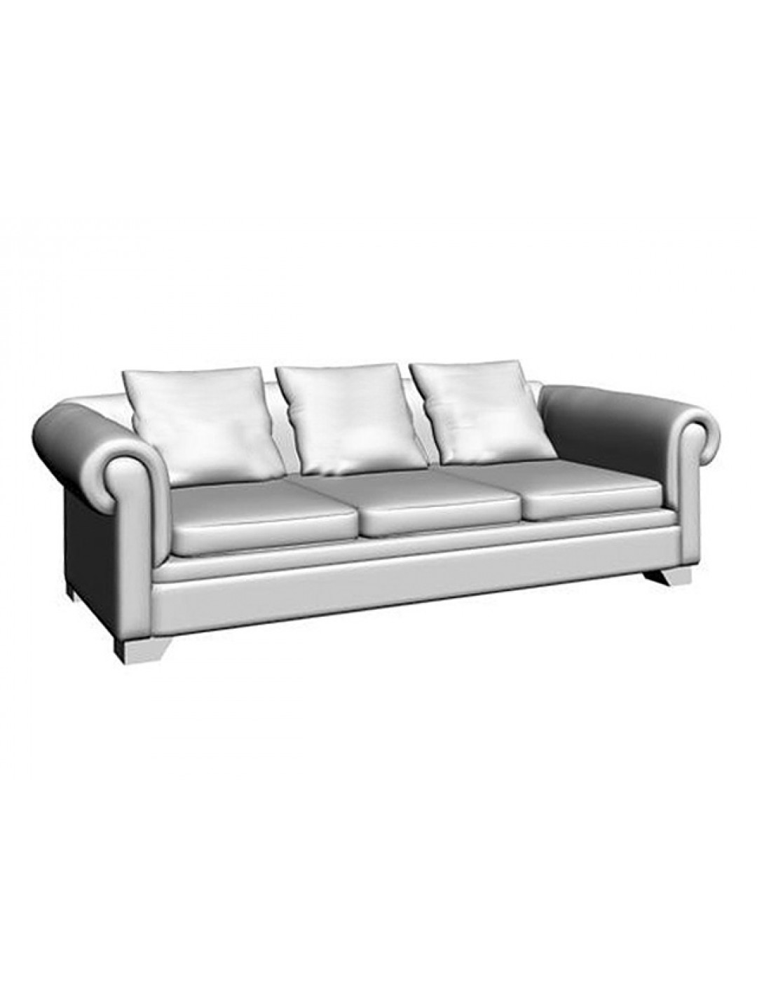 VICTORIA 3-SEATER QUILTED UPHOLSTERY SOFA, THREE 60*60 CUSHIONS INCLUDED, C.O.M.