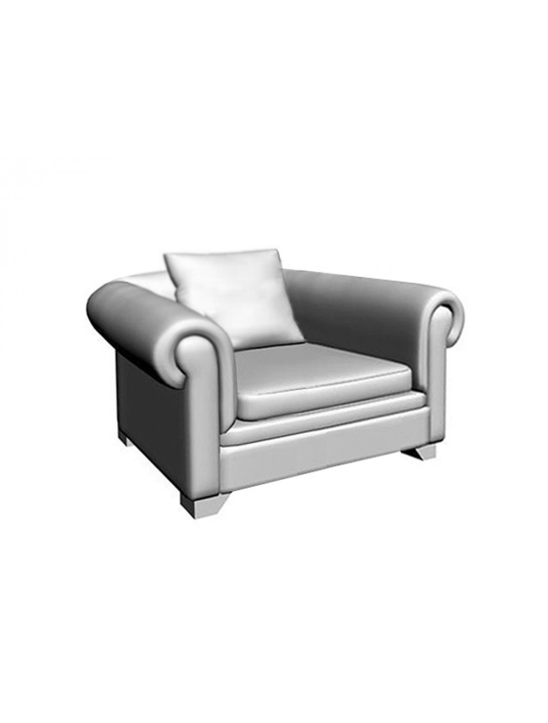 VICTORIA CAPITONE 1-SEAT SOFA,1 (60X60 CM) CUSHION, C.O.M.