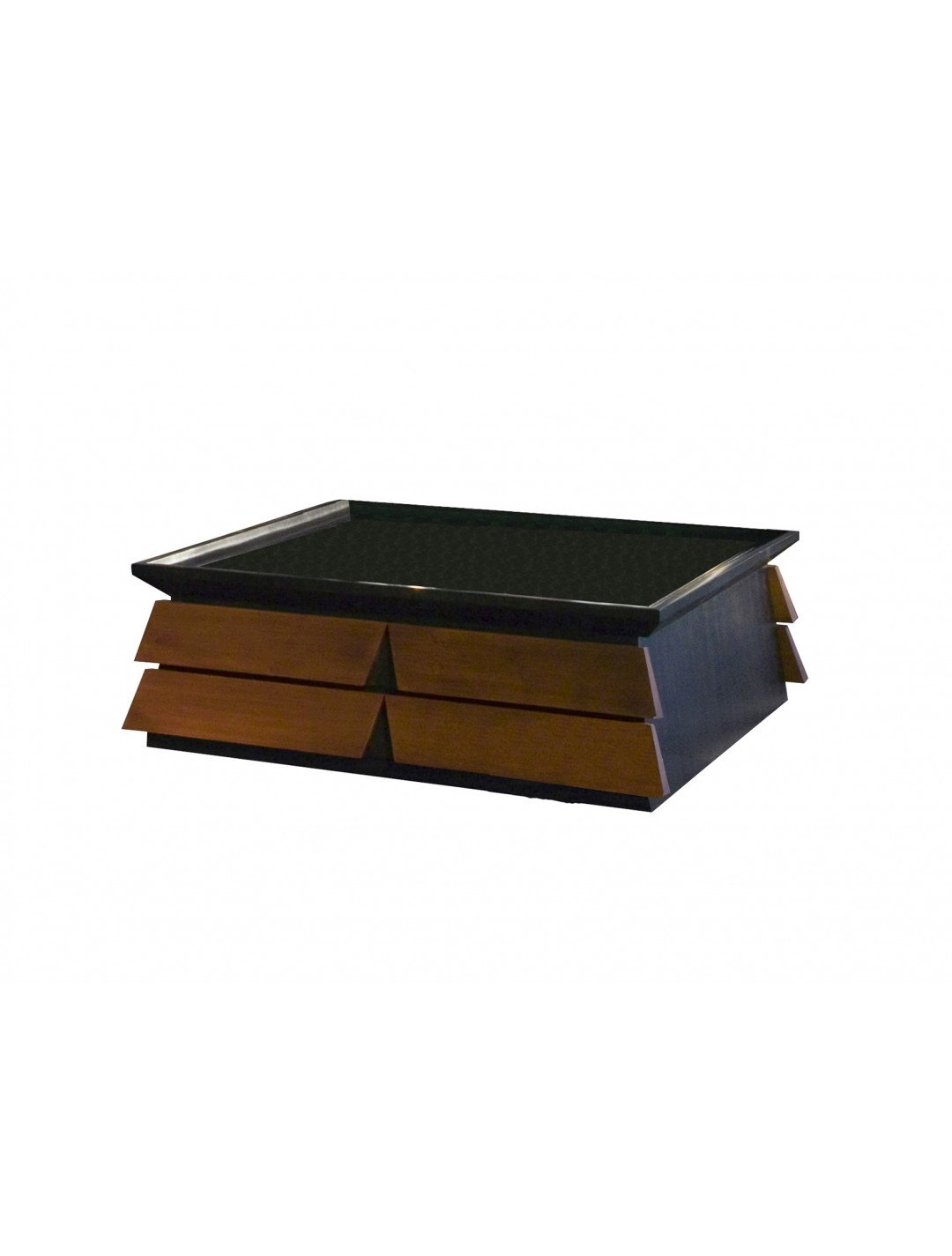 BERTA COFFEE TABLE, WITH TWO DRAWERS, SQUARE,