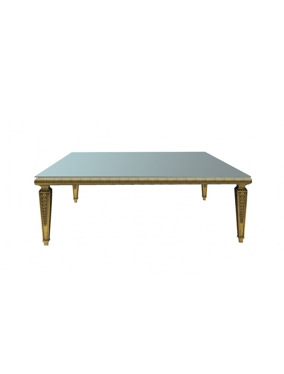 DECO SQUARE DINING TABLE, FOR BUTIRAL GLASS (NOT INCLUDED), 230*230,