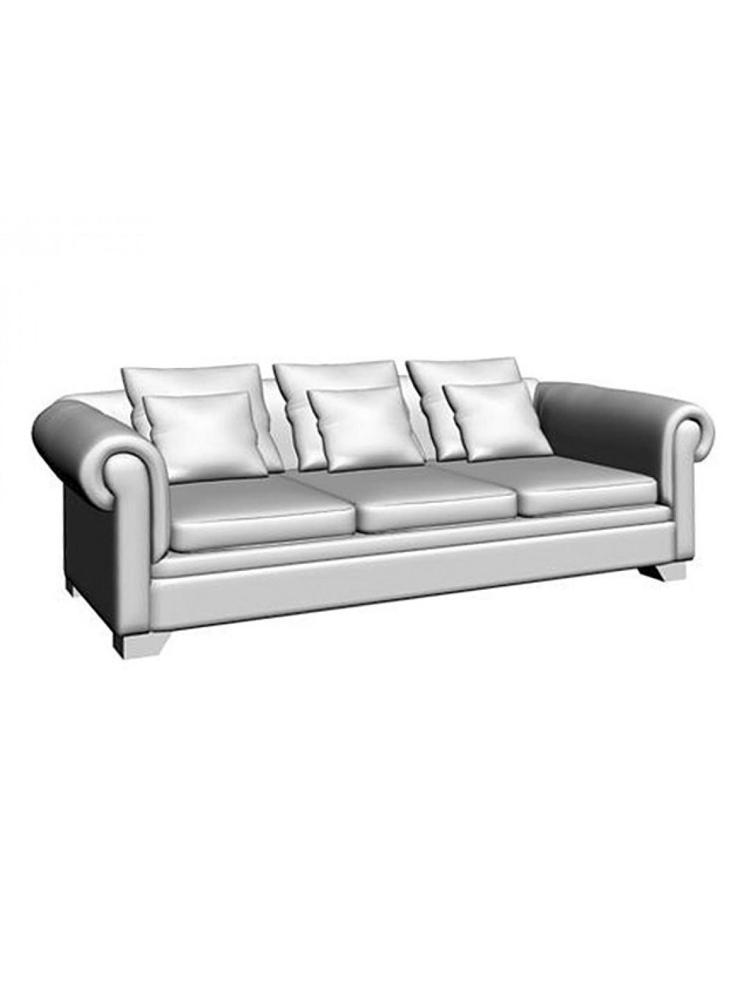 VICTORIA 3-SEAT SOFA,THREE PILLOW 60X60,THREE PILLOW 45X45 CM, C.O.M.