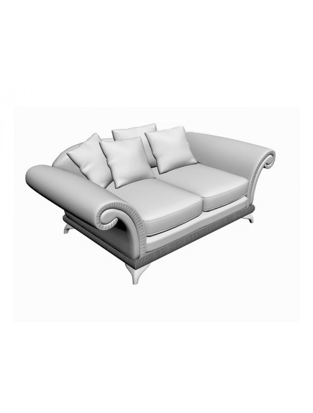 DECO 2-SEATER SOFA, ONE 75*50, TWO 50*50 AND TWO 45*45 LOOSE CUSHIONS INCLUDED, C.O.M.