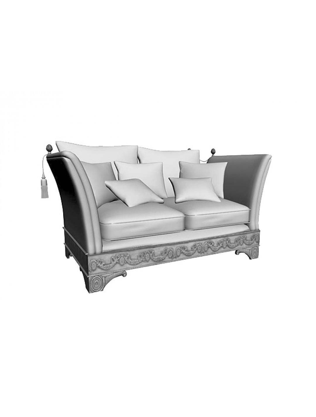 LORENA 2-SEATER SOFA, THREE 50*50 CUSHIONS INCLUDED, C.O.M.
