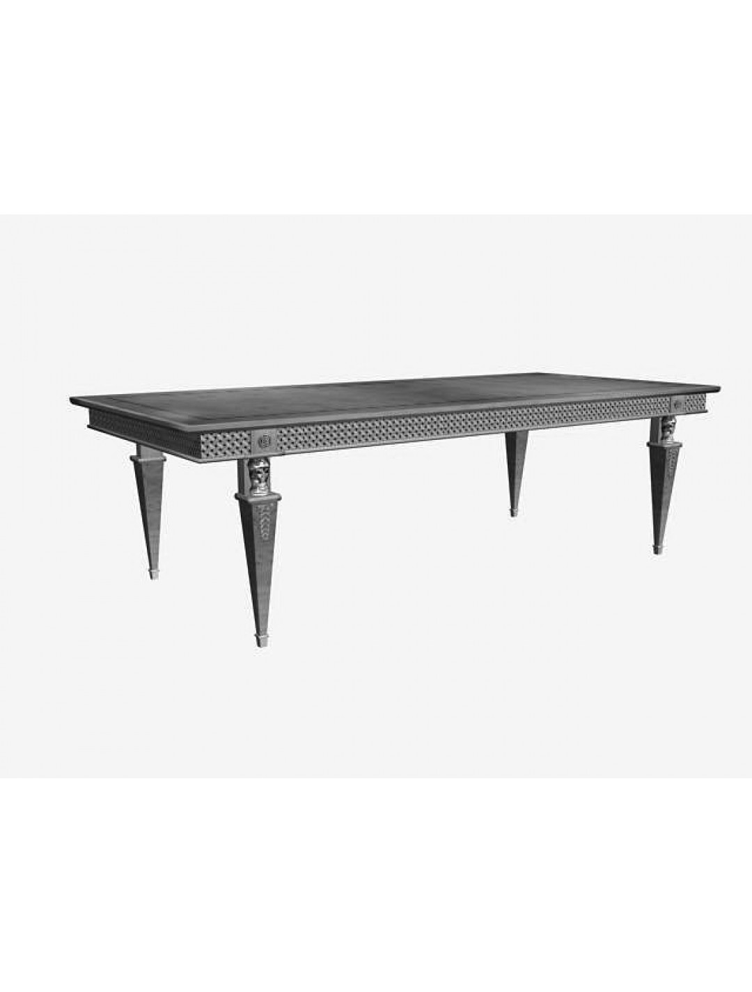 LEONID DINING-TABLE,  MYRTLE WOOD, 250*110, WITH EXTENDABLE TOP TO 350 CM