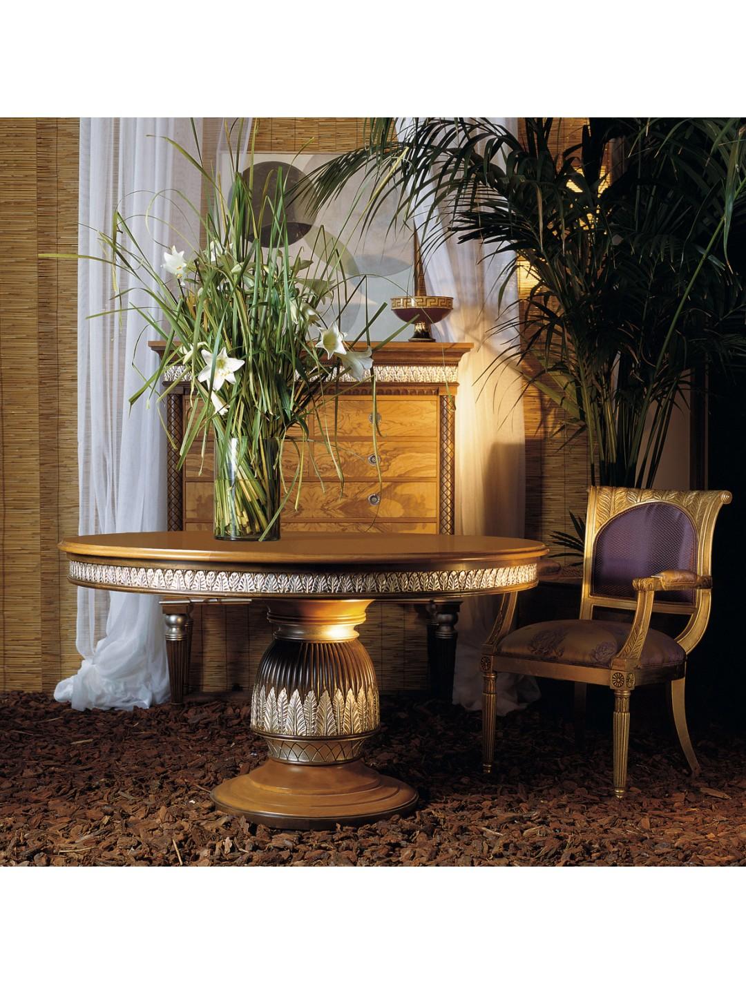 Atenea Dining Table Aged Olive Tree Root Veneer Top 170 Cm D