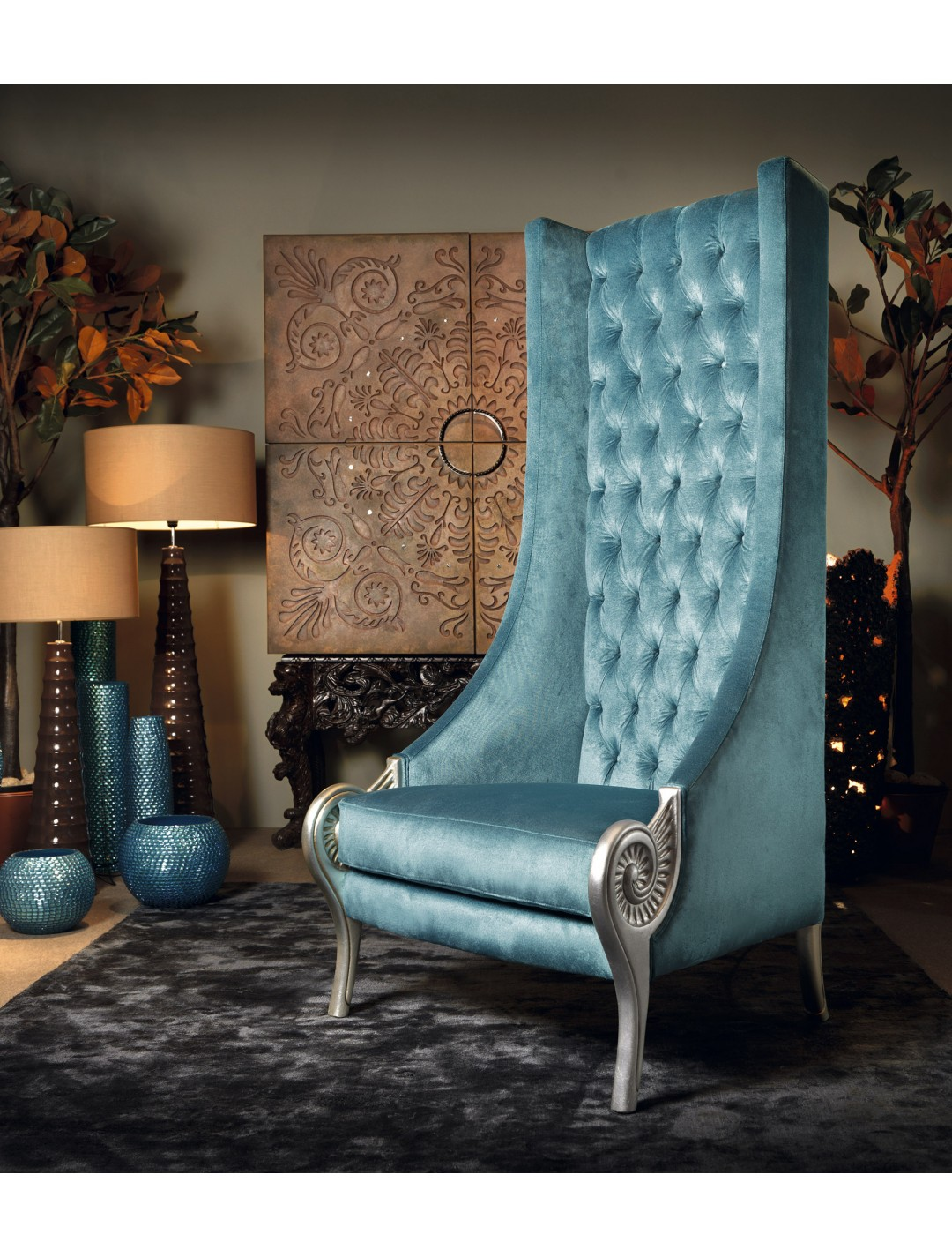 Troyano Armchair Quilted Back Upholstery C O M