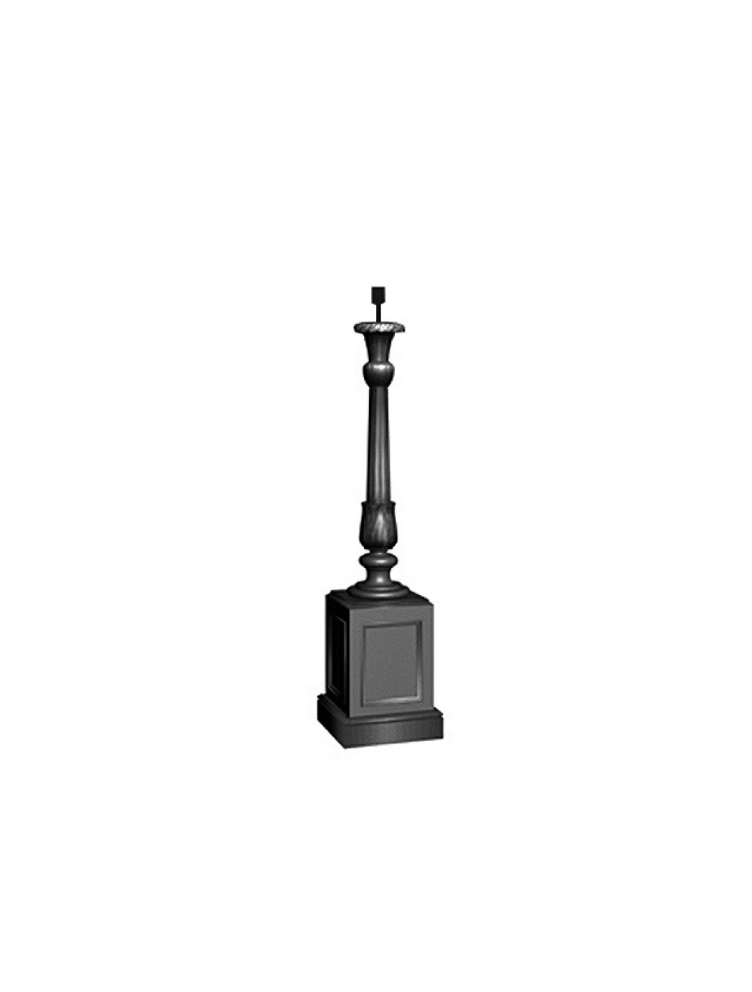 ELIZABETH WOODEN CARVED HIGH LAMP STAND,