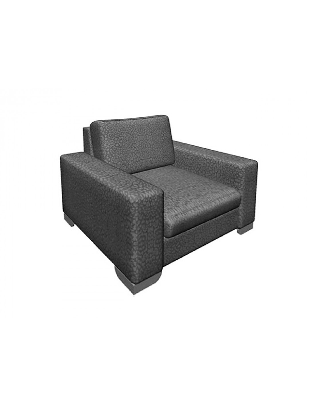 ORSON 100 ONE-SEATER SOFA, UPHOSLTERY: WITHOUT FABRIC, CHROMED ON LEGS,102X100X91H, C.O.M.