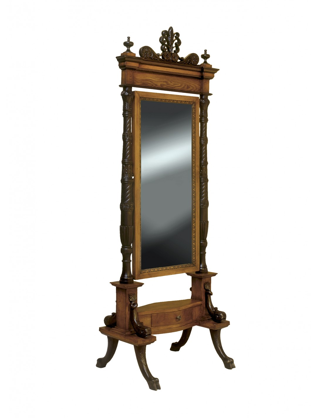 AMPARO CARVED WOOD MIRROR,70X202H.
