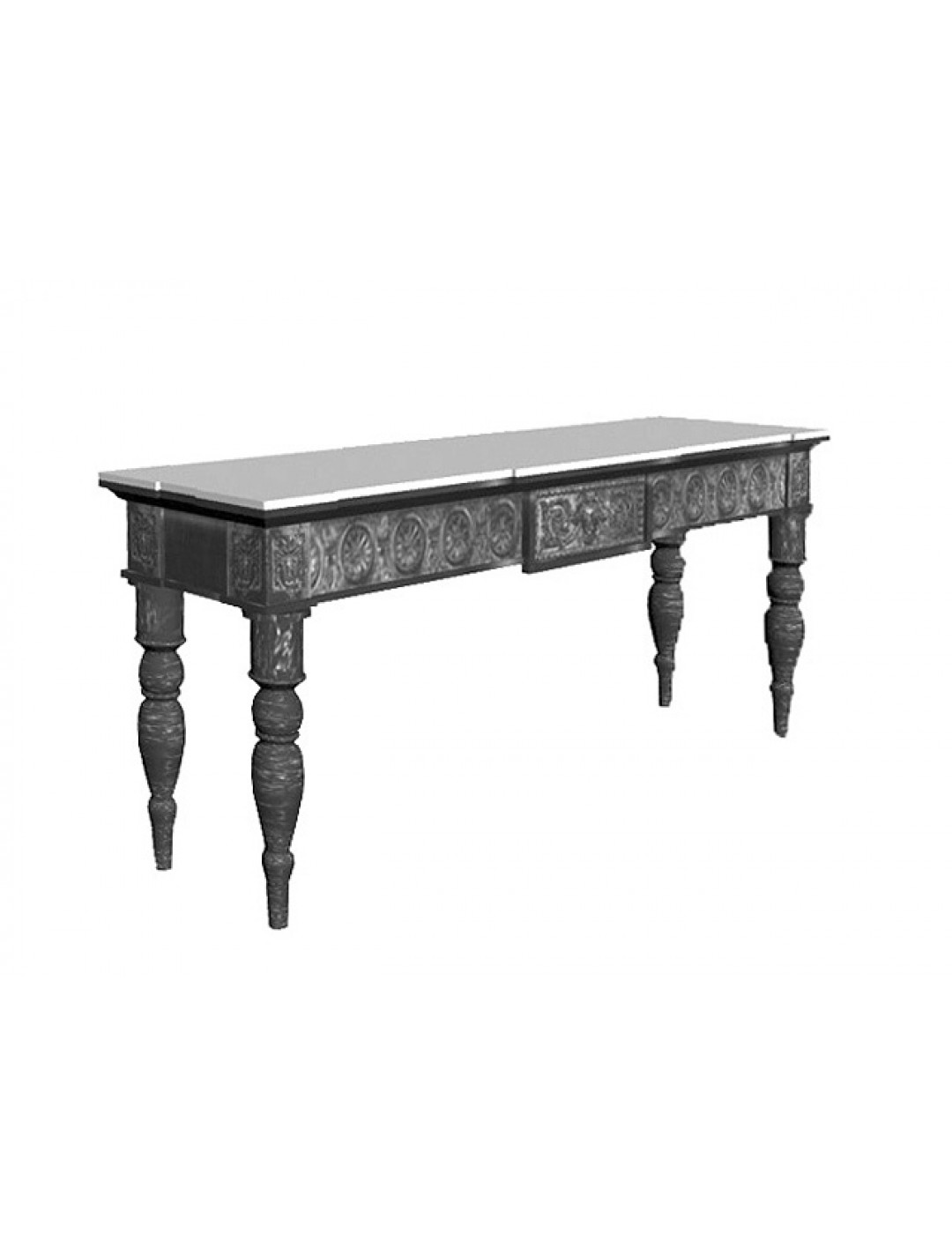 SOFIA CARVED WOOD CONSOLE BIG SIZE,200 CM