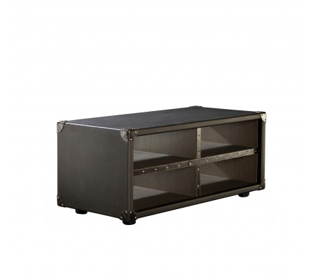 COMPASS L1 LOW SHELF UNIT, FINISH: ECO LEATHER, 100*50*44H