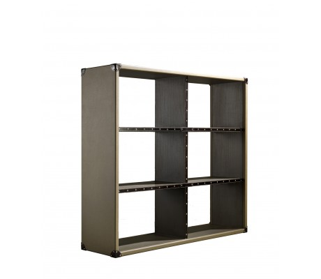 COMPASS BOOKCASE H2, FINISH: ECO LEATHER, 150*40*130 H,