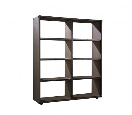 COMPASS BOOKCASE H3, FINISH: ECO LEATHER, 150*40*171 H,