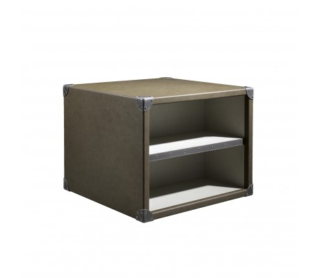 COMPASS T1 SIDE TABLE, FINISH: ECO LEATHER, 70*70*55H
