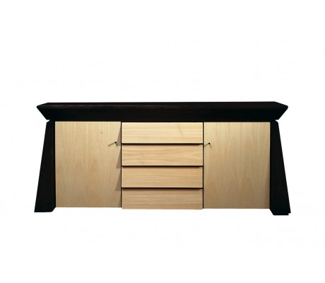 BERTA SIDEBOARD, LEATHER TOP