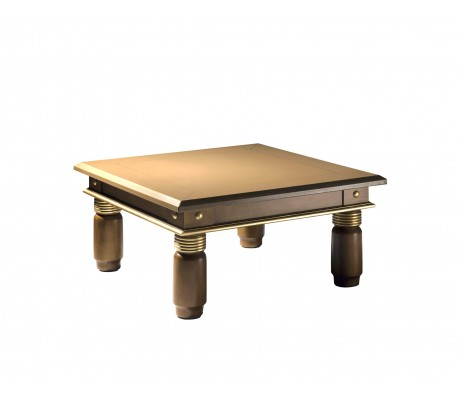 ROJAS SIDE TABLE,  LEATHER TOP,