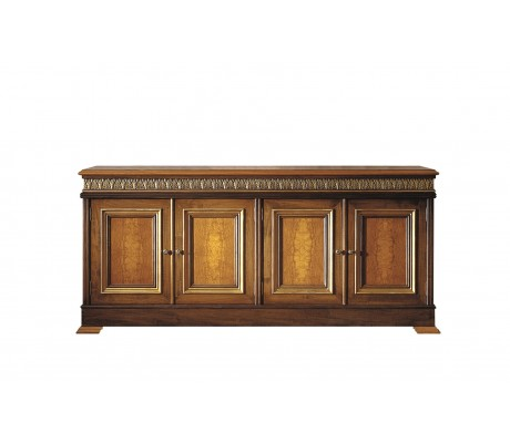 ATENEA SIDEBOARD, AGED OLIVE TREE ROOT VENEER TOP AND DECORATION,