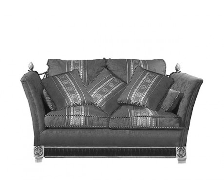 ELITE 2-SEATER SOFA, THREE 45*45 CM CUSHIONS, BRASS BORDER, C.O.M.