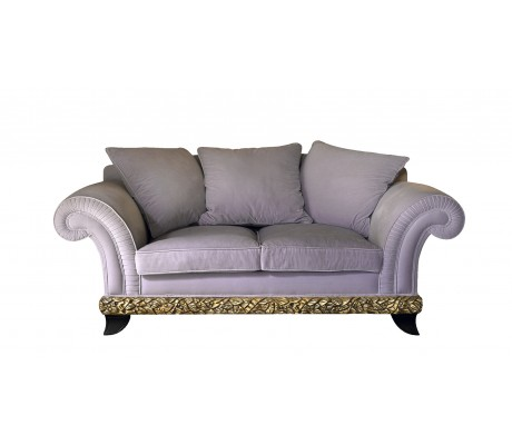 RANDA 2-SEATER SOFA, THREE 70*70 AND TWO 55*55 CUSHIONS INCLUDED, C.O.M.