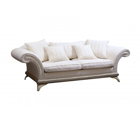 DECO 3-SEATER SOFA, ONE 85*50, TWO 50*50 AND TWO 45*45 LOOSE CUSHIONS INCLUDED, C.O.M.