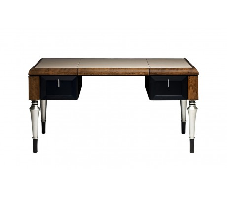 BENET DESK, LEATHER TOP, 140L.