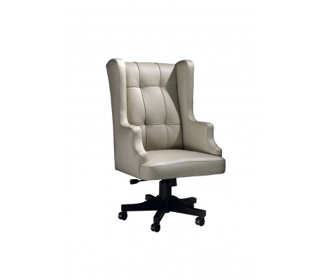 LEONID OFFICE ARMCHAIR, FINISH: EBONY, C.O.M.