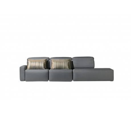 COSMOPOL 2 SEAT SOFA+BENCH LEFT 1 ARM-RIGHT, C.O.M.