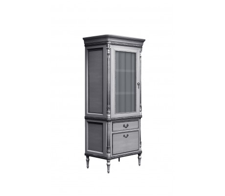 ANGELES ONE DOOR CABINET, SILVER BRASS