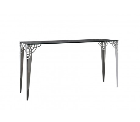 REGINA DEI GHIACCI CONSOLE, STAINLESS STEEL LEG, 15 MM TEMPERED GLASS, 180*50,