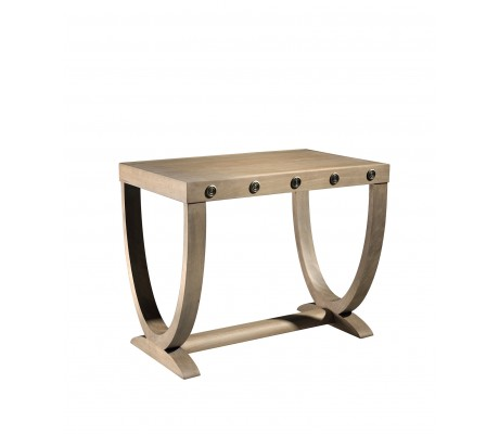 NICOSIA SIDE TABLE,  BRASS HARDWARE,
