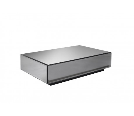 GHOST GLASS COFFEE TABLE, WITH DRAWER, 130*80,
