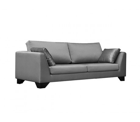 DUNE 210CM SOFA, UPHOLSTERY: WITHOUT FABRIC, WITH TWO 60*50 CUSHIONS, BROWN SYNTHETIC LEATHER ON LEGS, C.O.M.