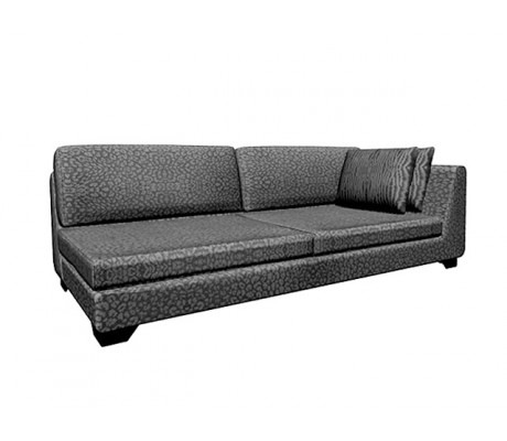 DUNE 280-LR CM LATERAL RIGHT ARM SOFA, UPHOLSTERY: C.O.M., WITH TWO 60*50 CUSHIONS, BROWN ECO LEATHER LEGS,