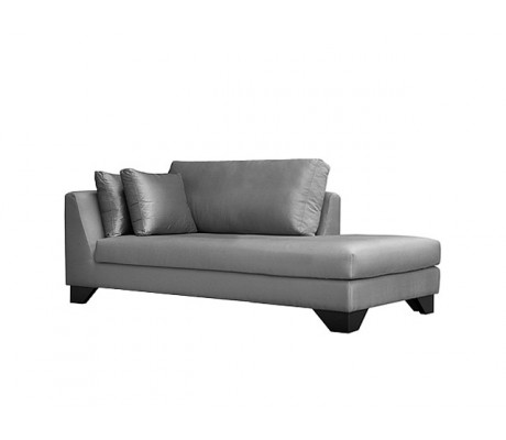 DUNE 210CM CHAISE-LONGUE, UPHOLSTERY: WITHOUT FABRIC, WITH TWO 60*50 CUSHIONS, BROWN SYNTHETIC LEATHER ON LEGS, C.O.M.