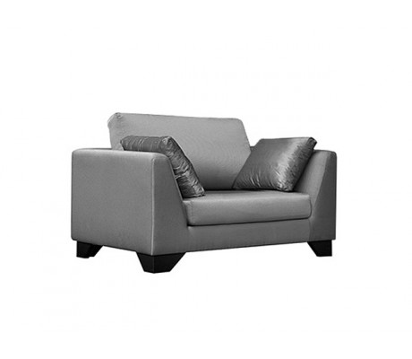DUNE 120CM SOFA, WITHOUT FABRIC, TWO LOOSE 60*50 CUSHIONS, BROWN SYNTHETIC LEATHER ON LEGS, C.O.M.