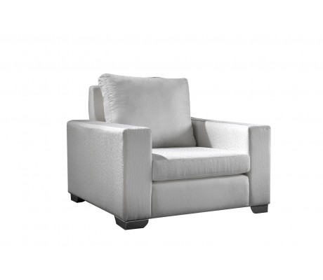 ORSON 100 ONE-SEATER SOFA, UPHOLSTERY: WITHOUT FABRIC, CHROMED ON LEGS, C.O.M.