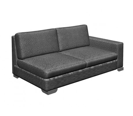ORSON 100 LR TWO-SEATER SOFA FOR ORSON CHAISE-LONGUE, UPHOLSTERY: WITHOUT FABRIC, WITH JOINING DEVICE,CHROMED ON LEGS, C.O.M.