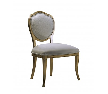 RUTH CHAIR,UPHOLSTERED BACK, C.O.M.