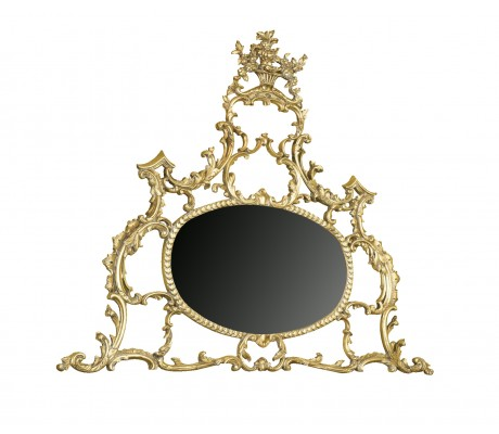 BARROCO CARVED WOOD MIRROR,190X155H.