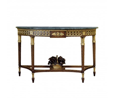 FLORENCIA CARVED WOOD CONSOLE