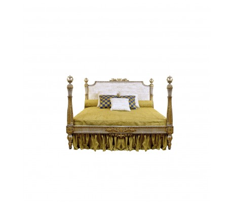 CARMEN WOODEN HAND CARVED BED (FOR 200X200 CM MATTRESS)