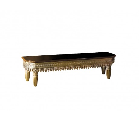 SISSI CARVED WOOD BENCH,
