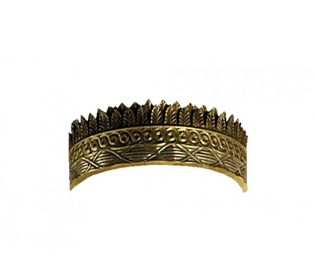 SISSI CARVED WOODEN ROUND CROWN,