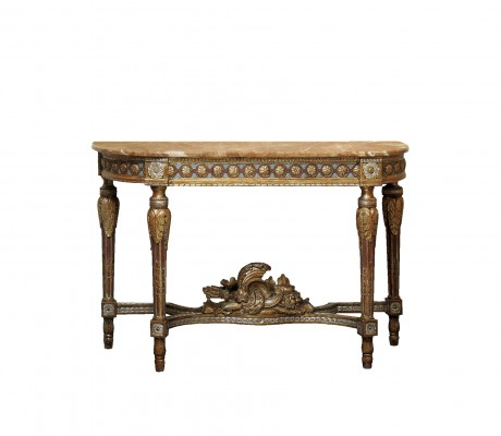 DORIS CARVED WOOD CONSOLE