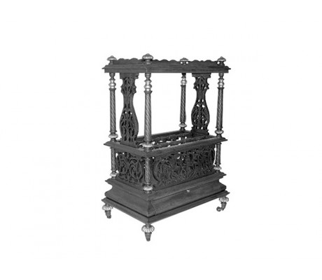 HAND CARVED WOODEN BAR TROLLEY MONTOYA,