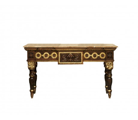 SOFIA CARVED WOOD CONSOLE,SMALL SIZE,150 CM